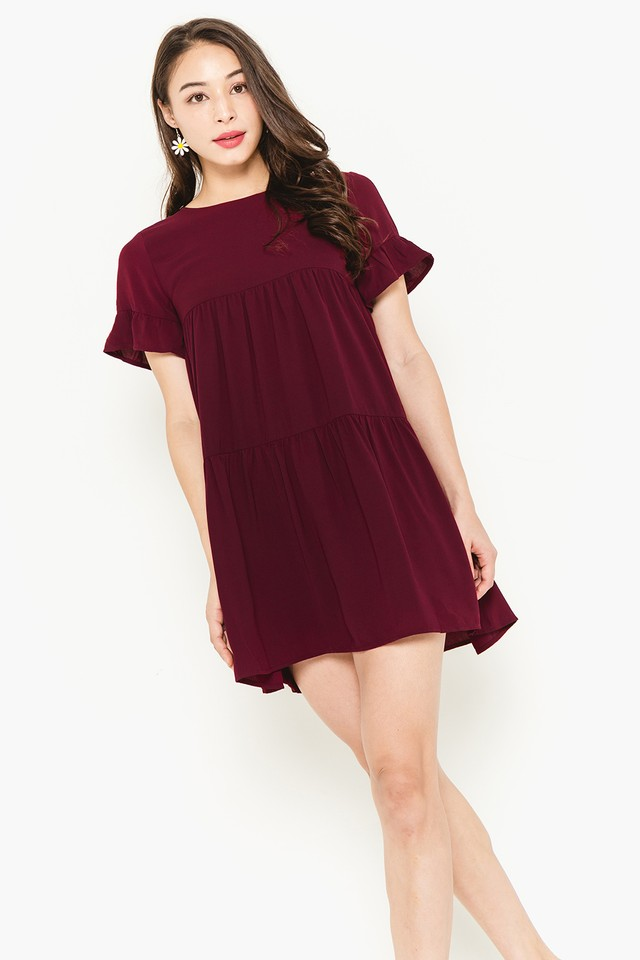 Kiersten Dress Maroon