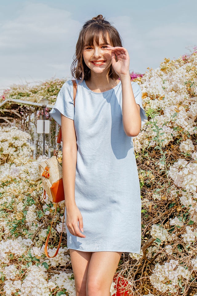 Hallie Dress Light Wash