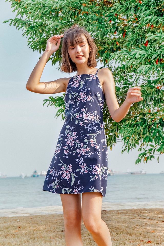 Kylee Dress Navy Floral