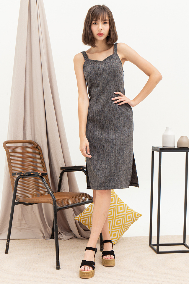 Layla Dress Dark Grey