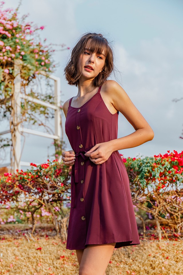 Lanni Dress Burgundy