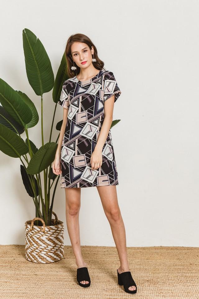 Marion Dress Geometric