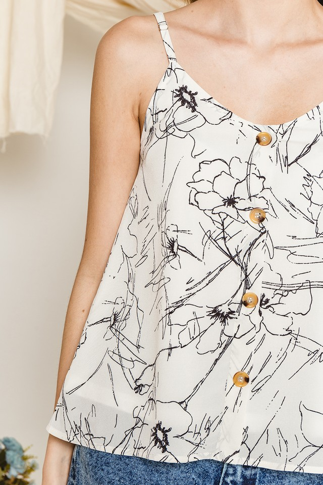 Shelly Top White Floral