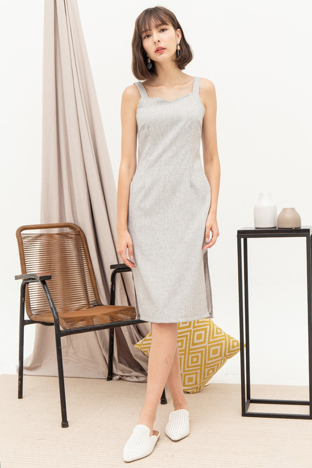 Layla Dress Light Grey