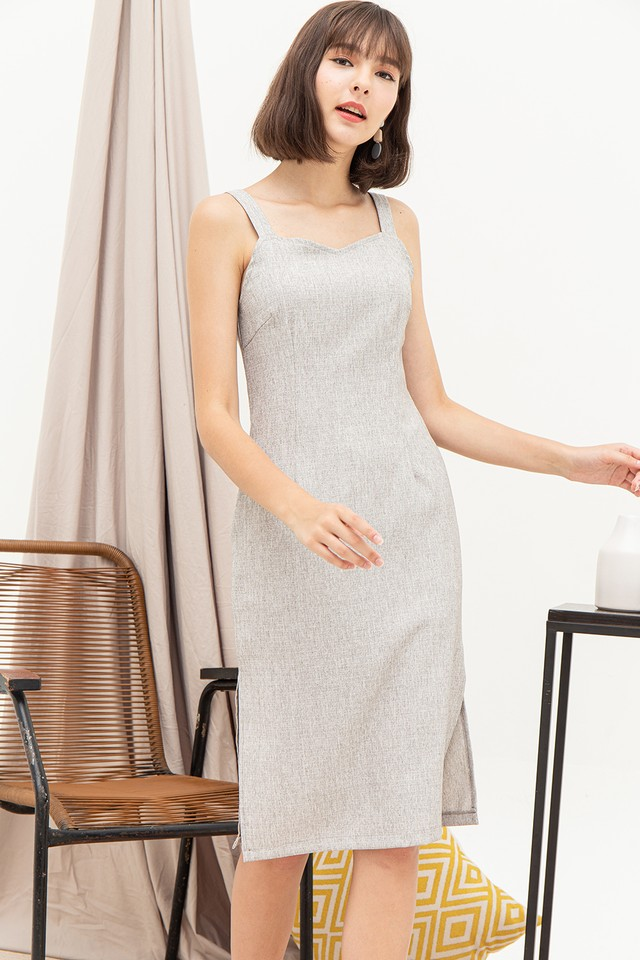 Layla Dress Light Grey