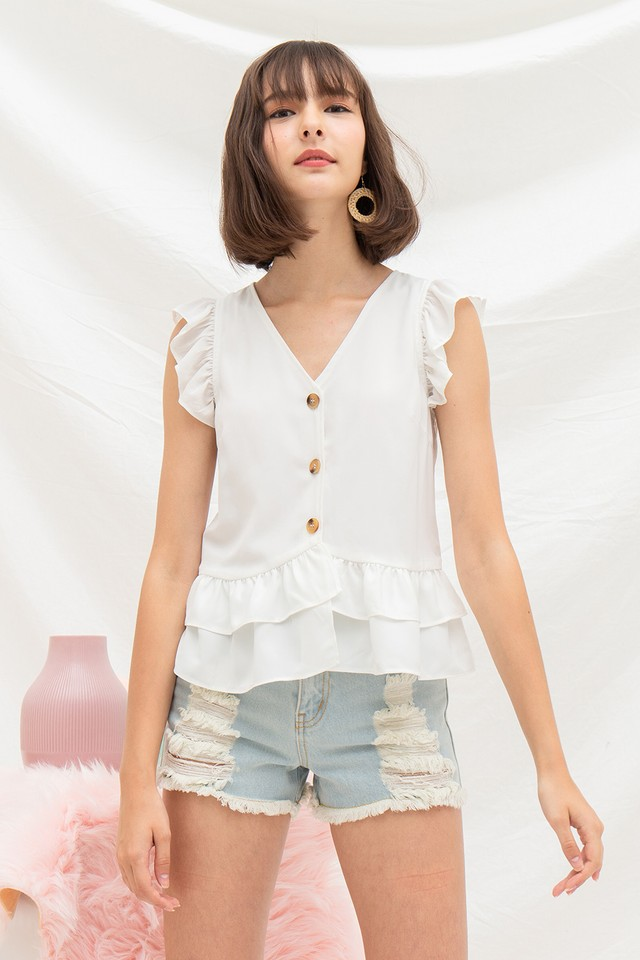 Moira Top White