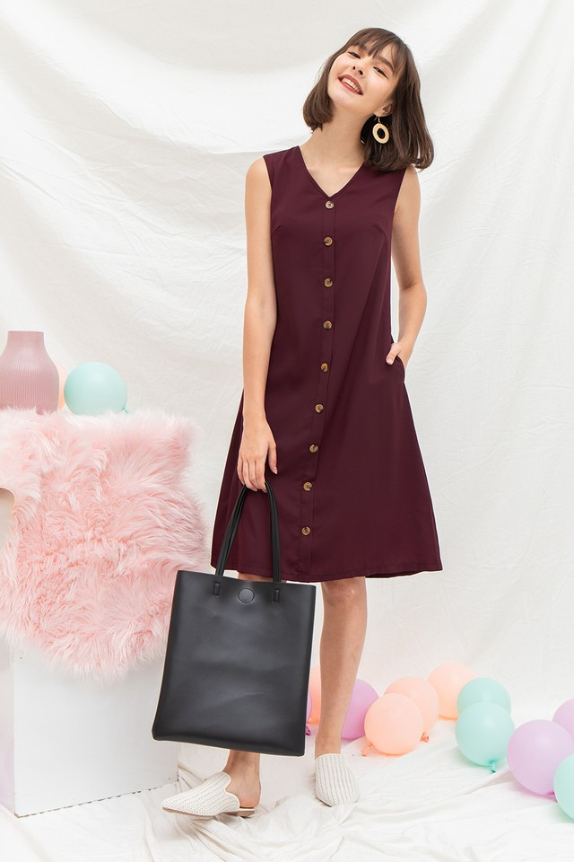 Annabeth Dress Burgundy