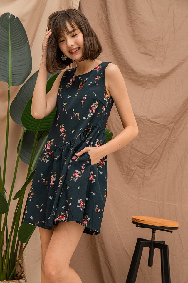 Gabby Dress Forest Floral
