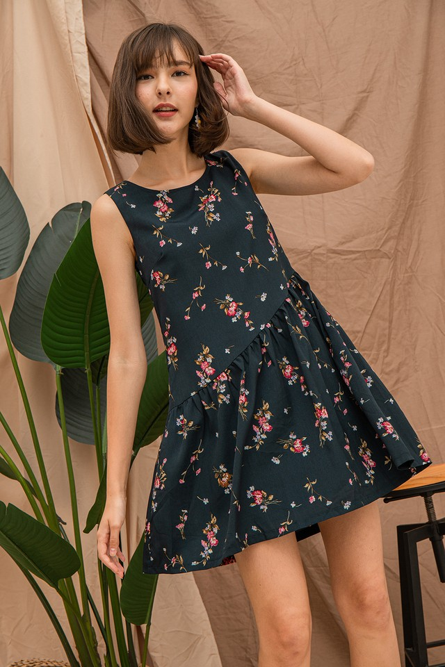 Gabby Dress Forest Floral