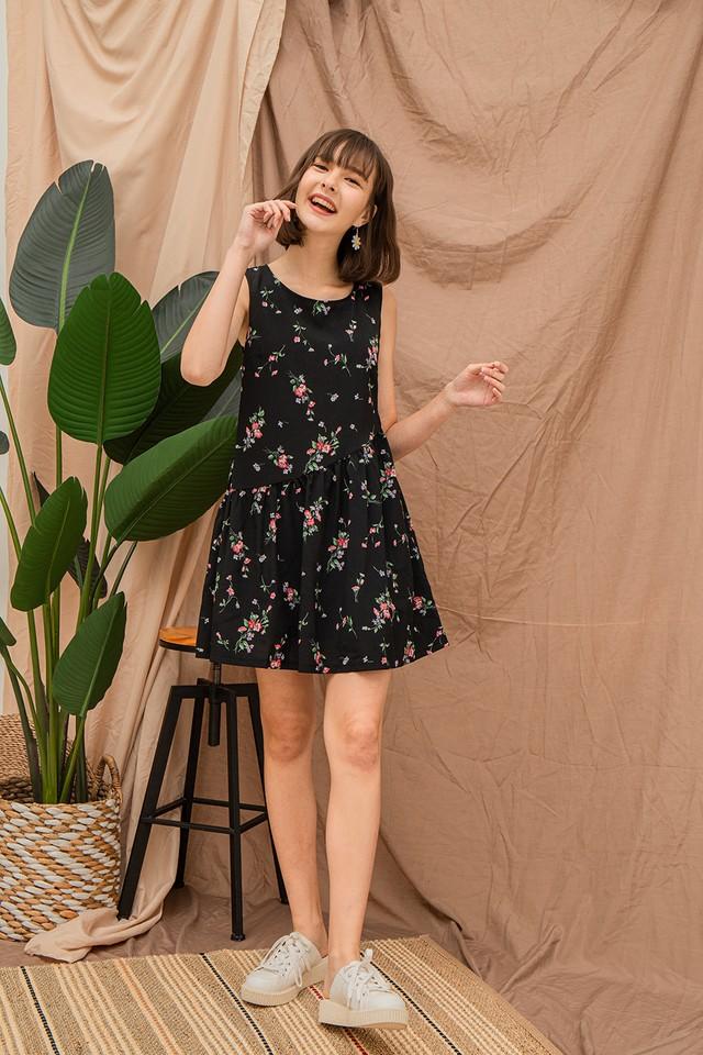 Gabby Dress Black Floral