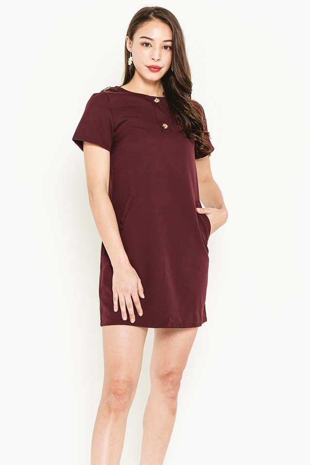 Myrna Dress Maroon