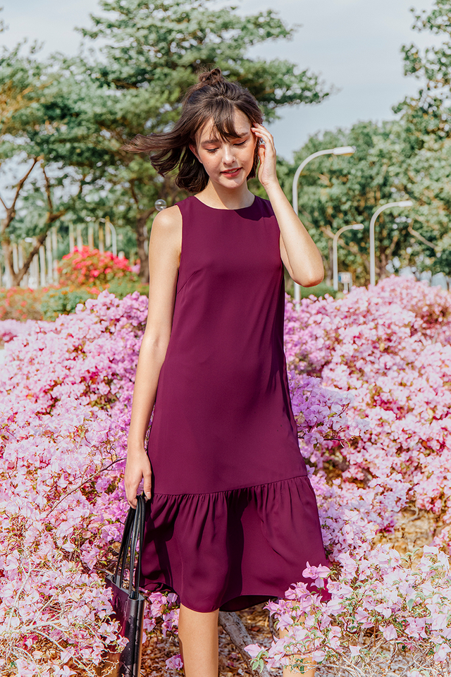 Donte Dress Burgundy