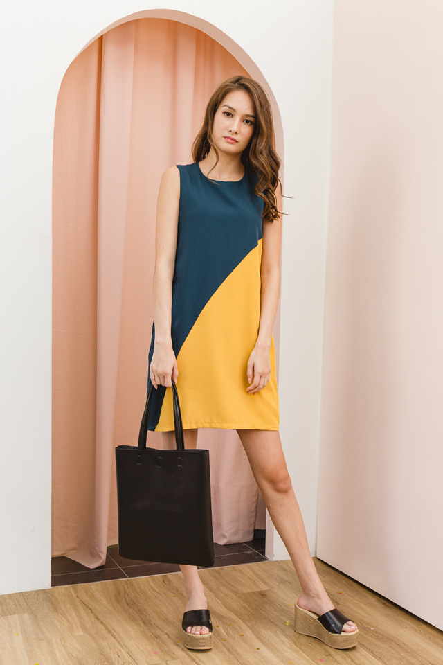 Melvina Dress Forest/Mustard