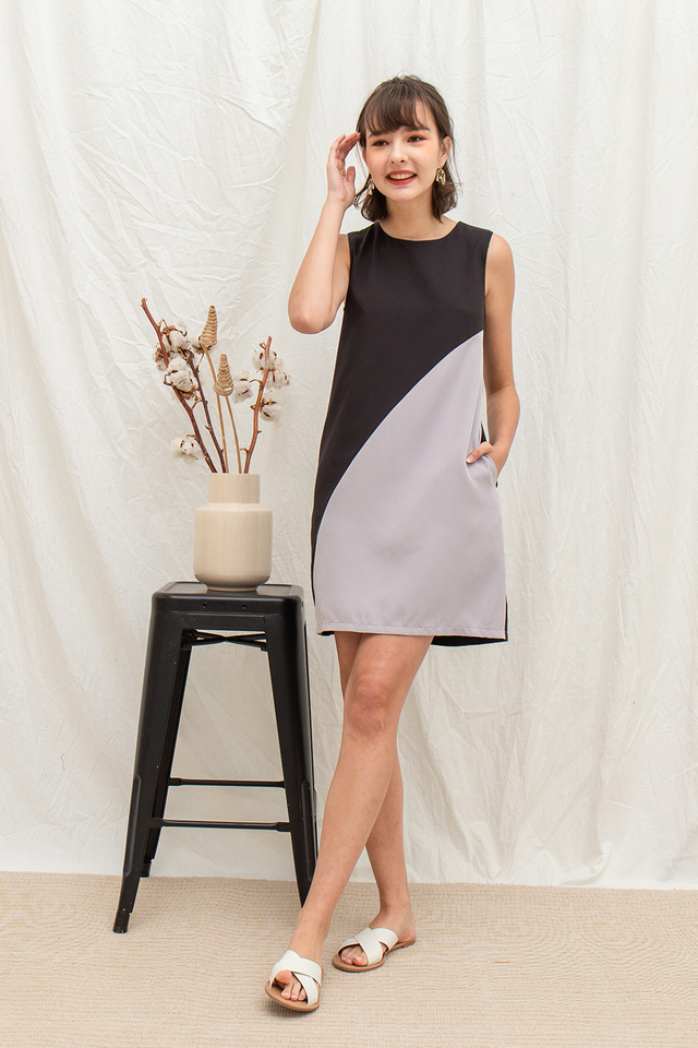 Melvina Dress Black/Grey