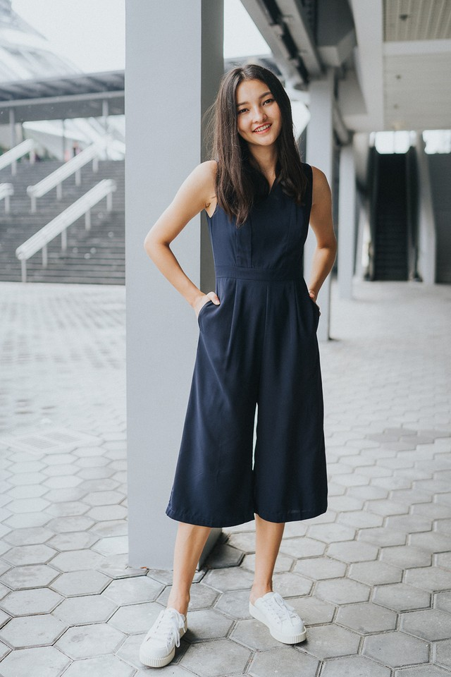 Elyza Jumpsuit Navy