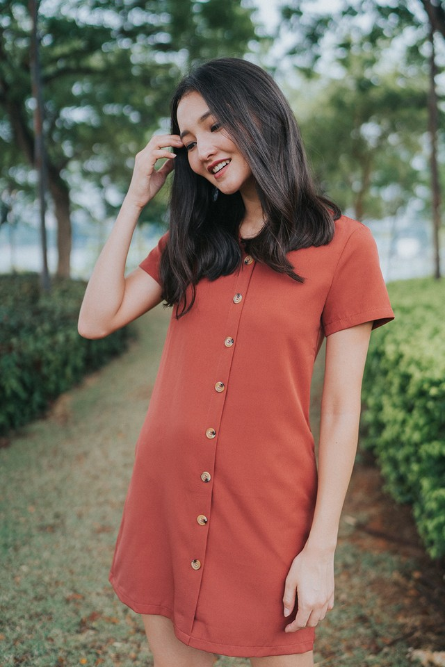 Louella Dress Terracotta