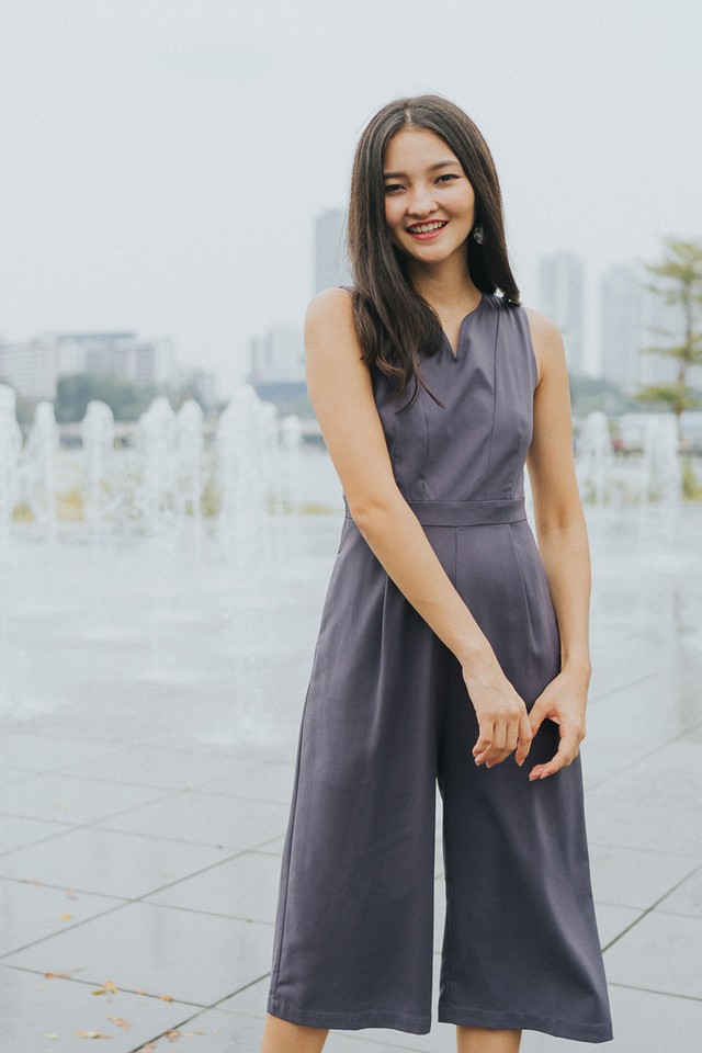 Elyza Jumpsuit Grey