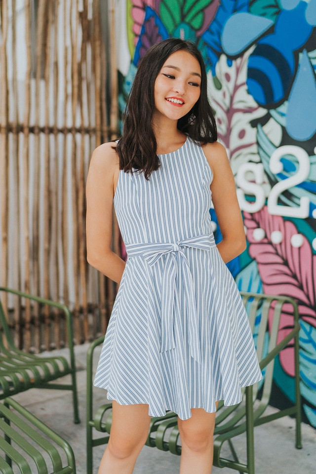 Bridget Dress Stripes