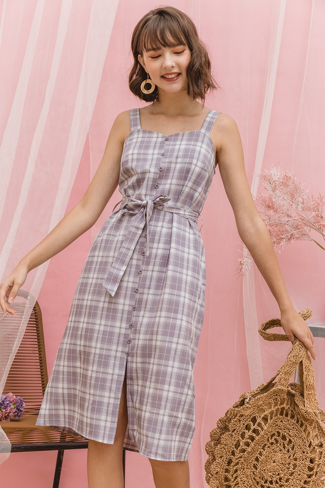 Dabria Dress Grey Checks