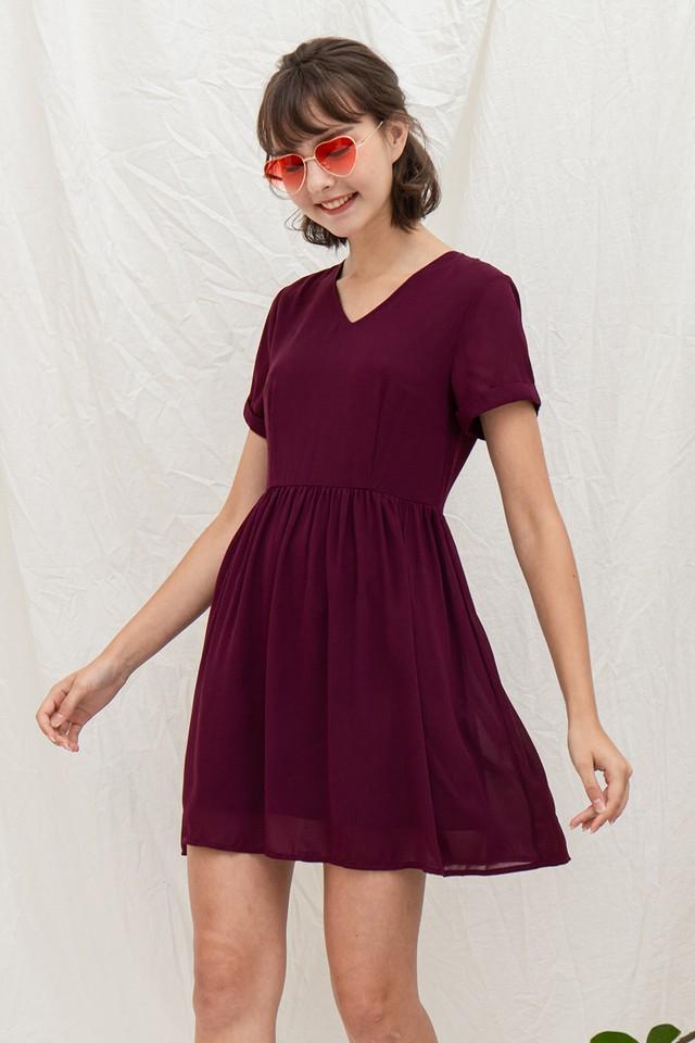 Trista Dress Burgundy