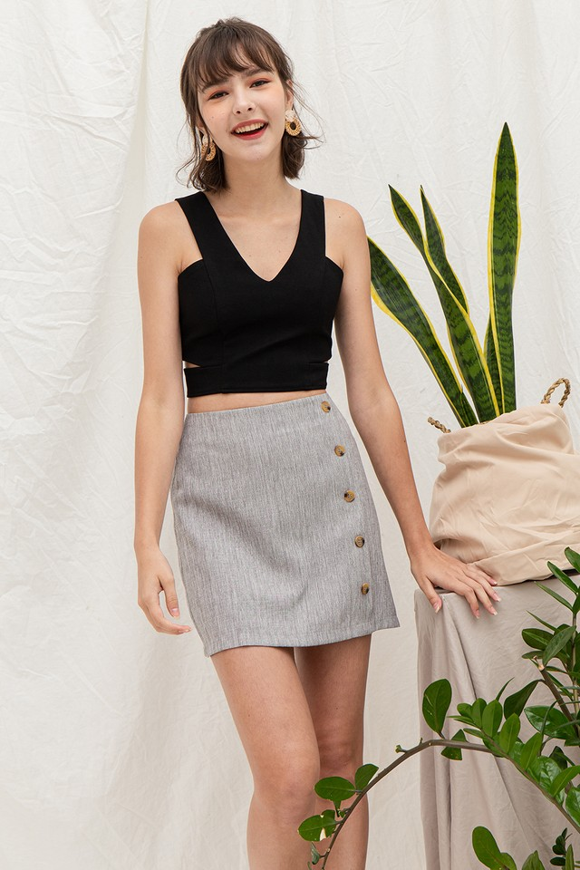 Kassidy Skirt Grey Tweed