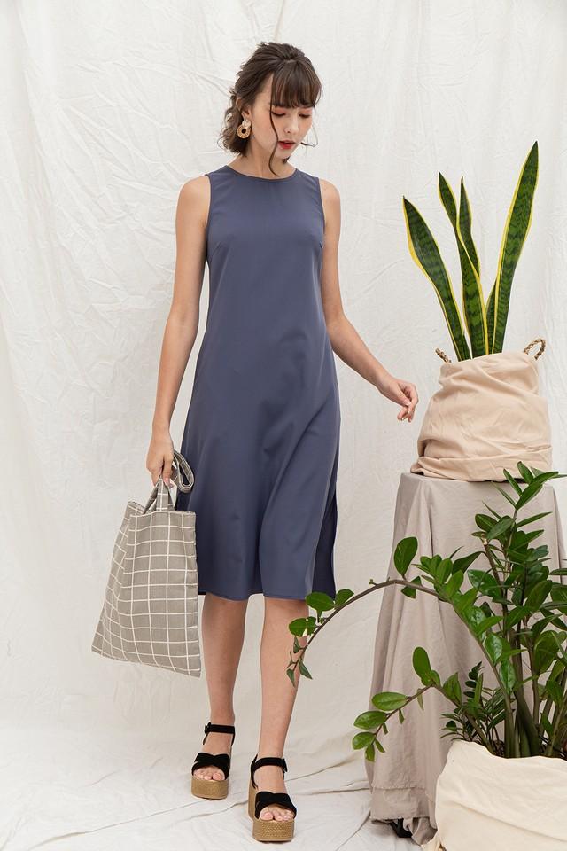 Riya Dress Ash Blue