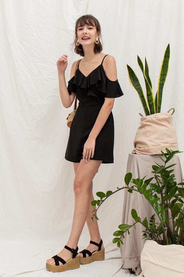 Gretchen Playsuit Black