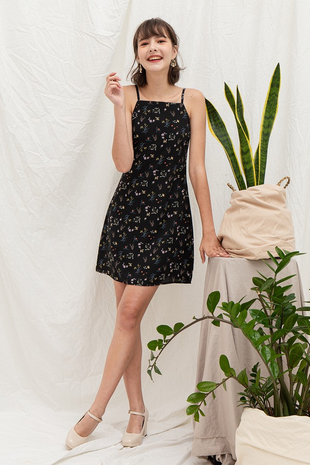 Sarina Dress Black Floral