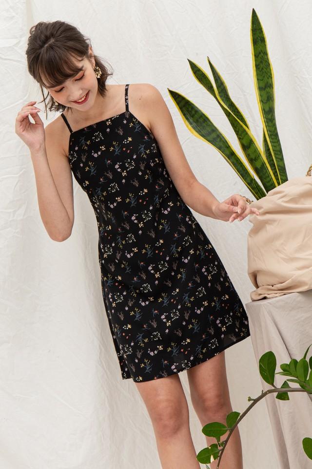 Sarina Dress Black Floral
