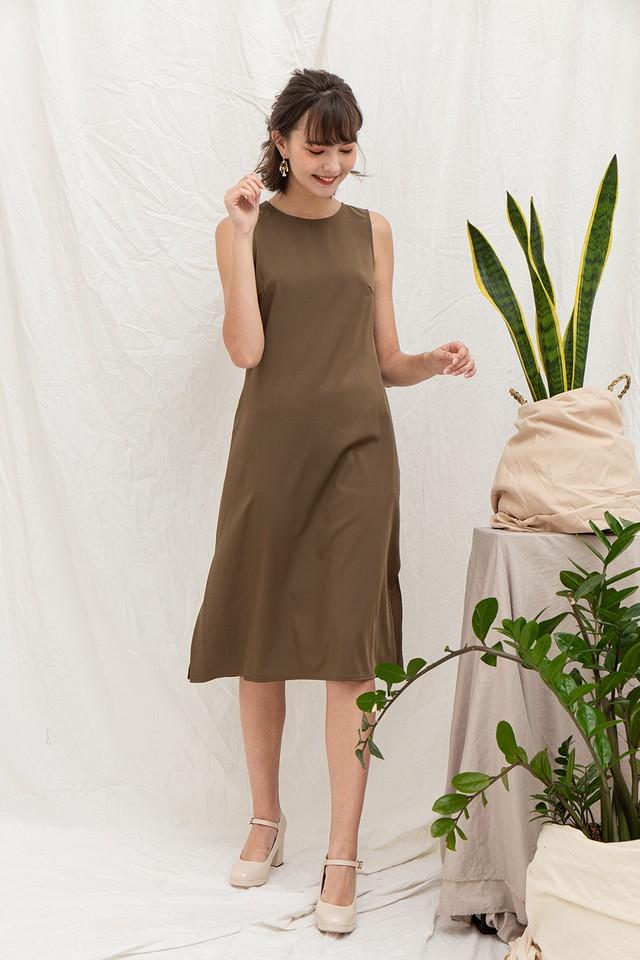 Riya Dress Olive
