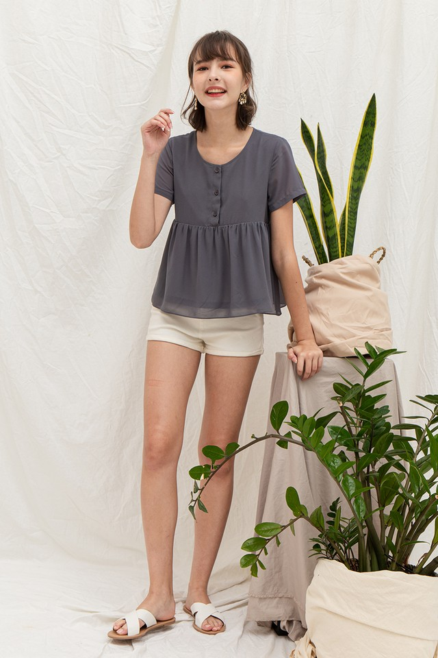 Glynis Top Grey