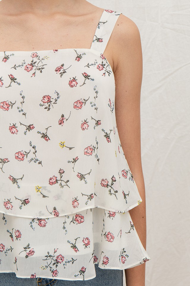 Xavia Top White Floral