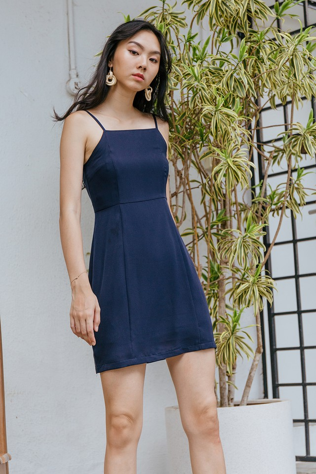 Ximena Dress Navy