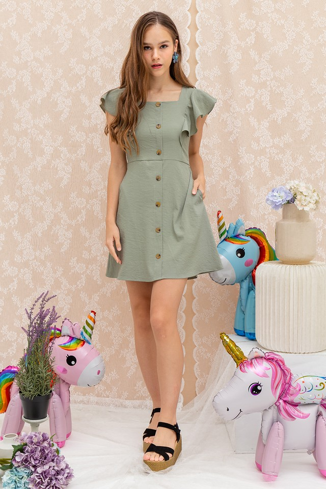 Kaelyn Dress Sage