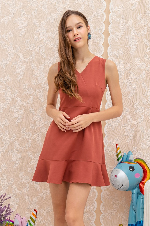 Georgie Dress Terracotta