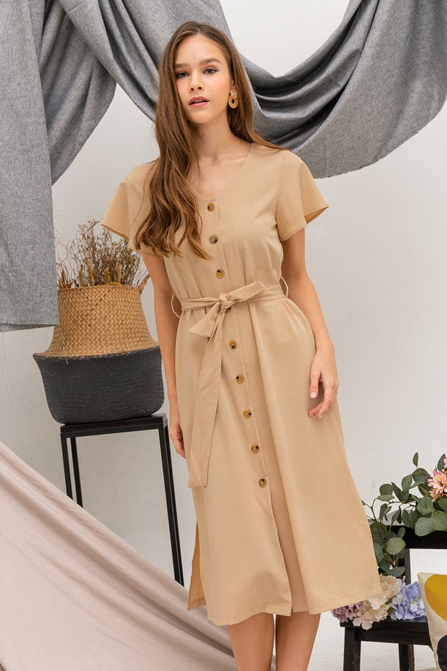 Phyllis Dress Sand