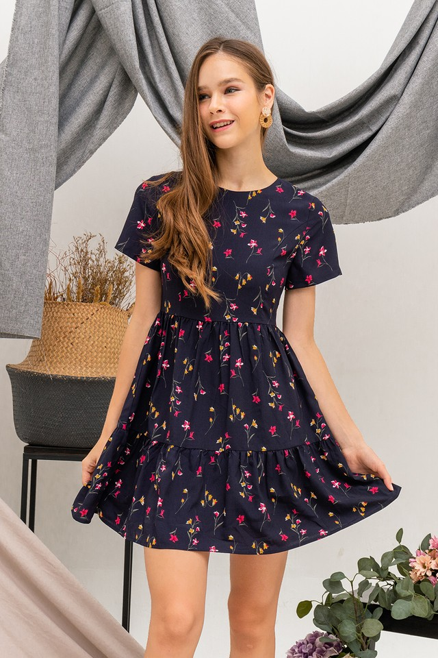 Hazell Dress Navy Floral
