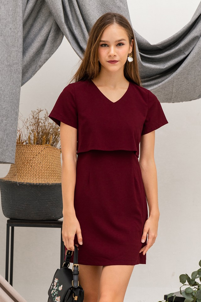 Trixie Dress Maroon
