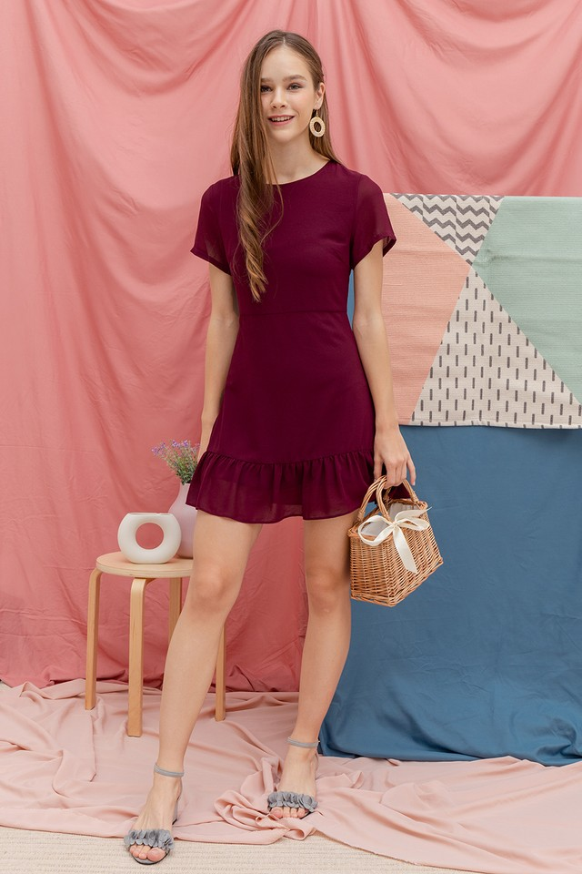 Cornelia Dress Maroon