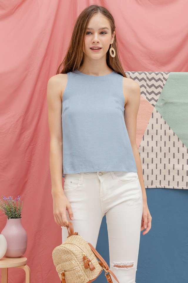 Nicola Top in Light Wash