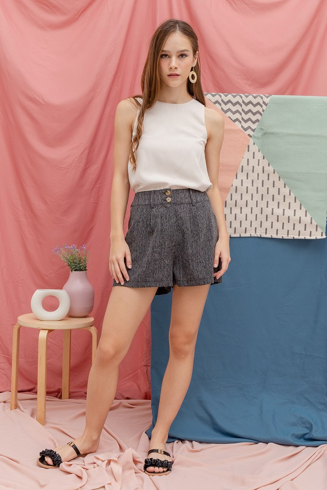Keelin Shorts Dark Grey