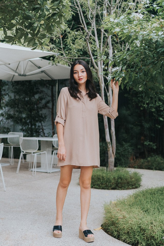 Ondine Shirtdress Khaki