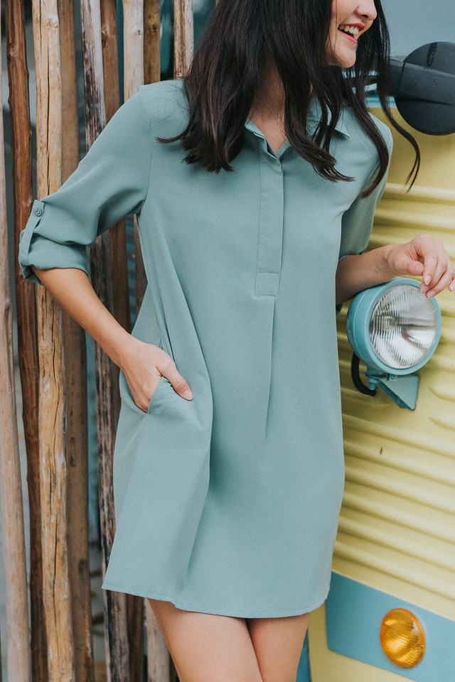 Ondine Shirtdress Sage