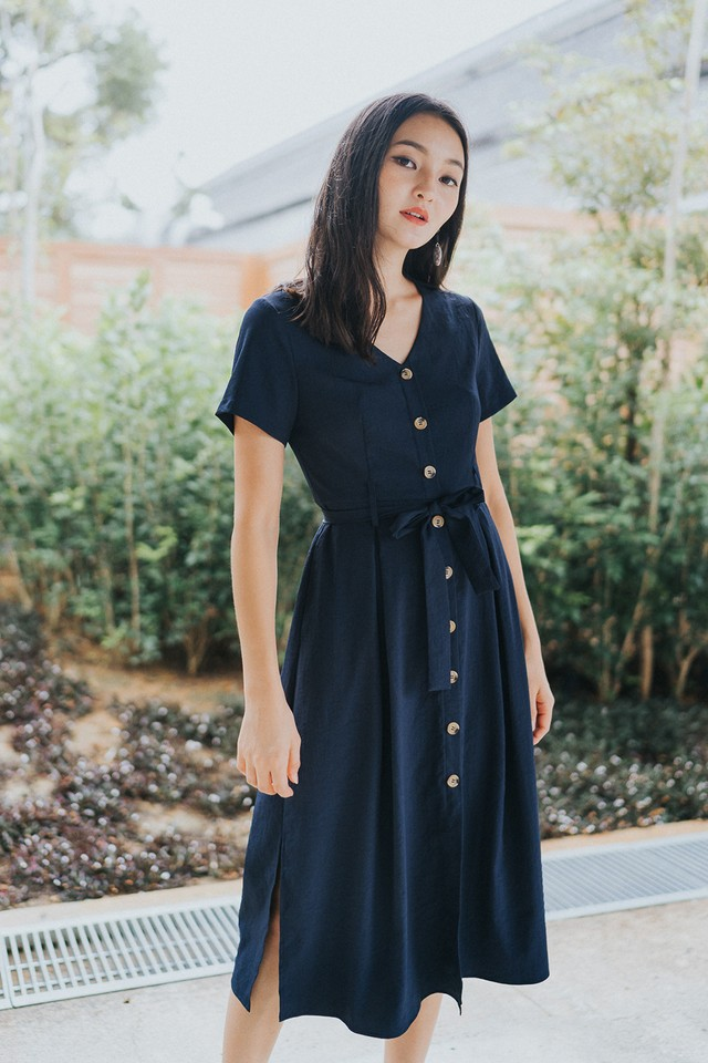 Yessica Dress Navy