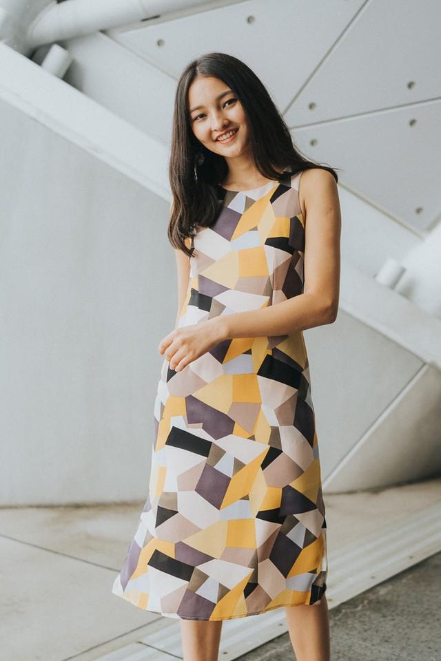 Carole Dress Geometric