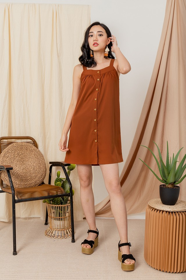 Tamera Dress Burnt Orange