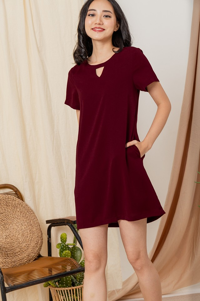Imelda Dress Maroon