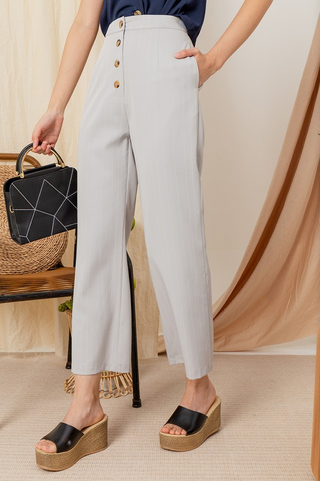Abrielle Pants Grey Stripes