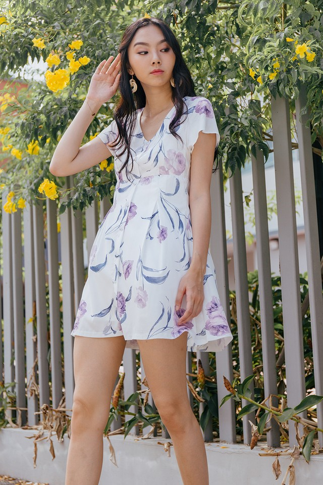 Rubita Dress White Floral
