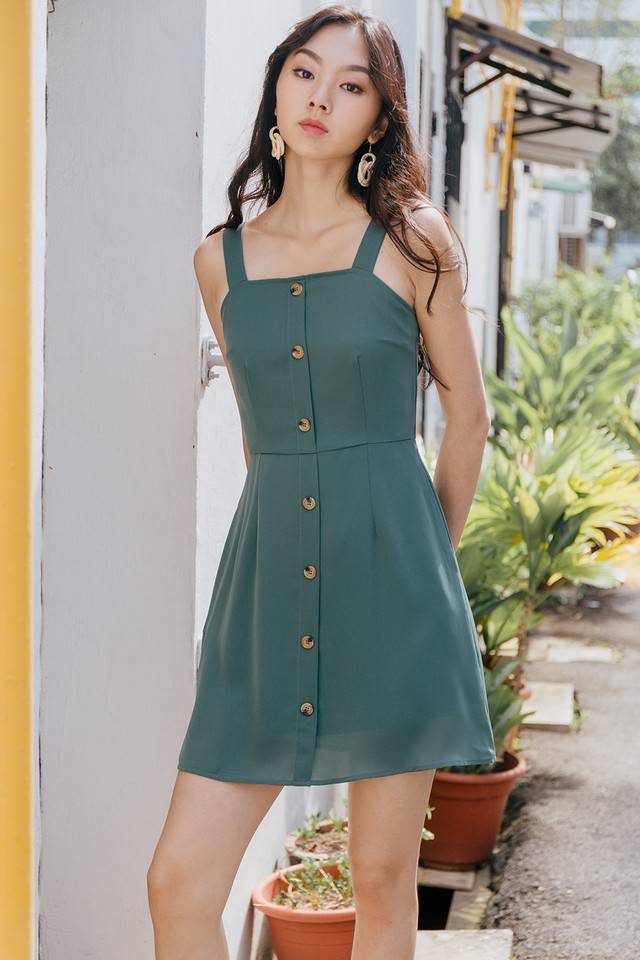 Tatti Dress Pine Green